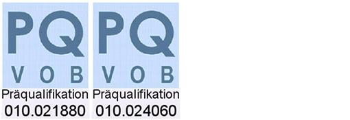 Präqualifikation VOB 010.021880 und 010.024060